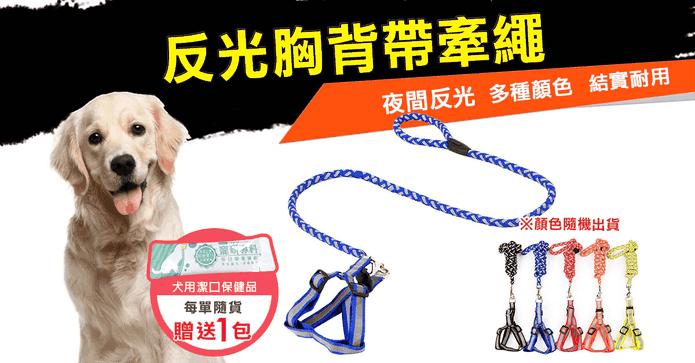 寵物反光胸背含牽繩