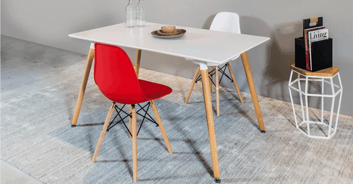 復刻實木貝殼型餐椅子