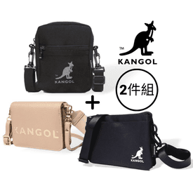 KANGOL網格側背包2件組
