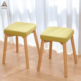 無印風方形實木餐椅