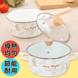 安妮兔花漾手工琺瑯鍋具