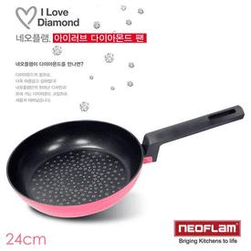 韓國頂級鑽石平底鍋24cm