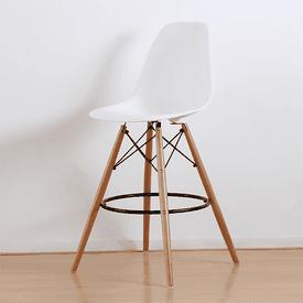 北歐實木腳造型吧檯椅子