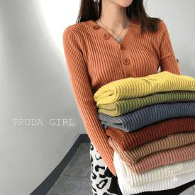 韓系包心紗保暖針織上衣