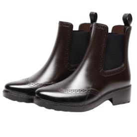 漸層暈染純色防滑雨靴