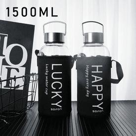 大容量環保玻璃水瓶水壺