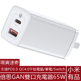 小米GAN雙口充電器65W