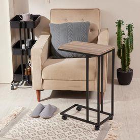 可移動工業風沙發邊桌