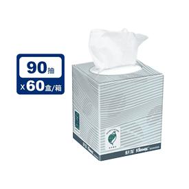 舒潔大盒裝面紙方盒90抽