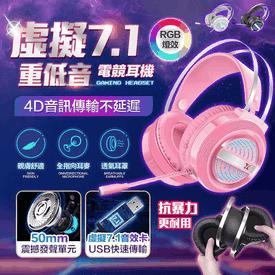 超7.1聲道電競電腦耳機