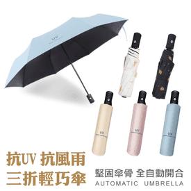 抗UV晴雨兩用黑膠自動傘