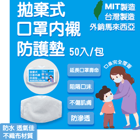 MIT抗敏透氣口罩防護墊