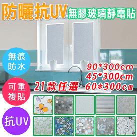 特長抗UV無膠靜電玻璃貼