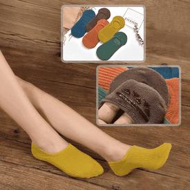 日系精棉條紋男女隱形襪