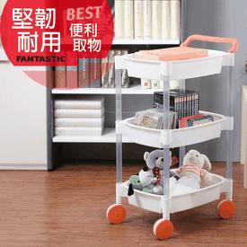 台灣製大三層四輪推車