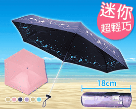 迷你輕量驅黑抗UV晴雨傘