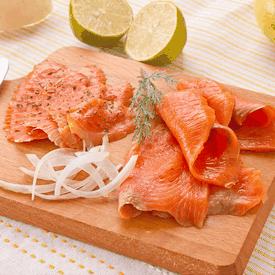 超厚超大片燻鮭魚