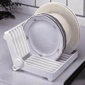 實用碗盤摺疊收納架