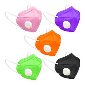 防護彩色氣閥立體口罩