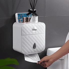 壁掛雙抽屜防水衛生紙盒
