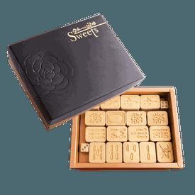 黃金核桃麻將巧克力禮盒