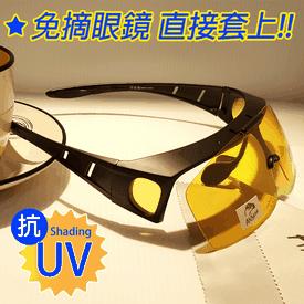 可掀套鏡式偏光太陽眼鏡