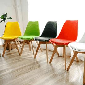 北歐系列皮革休閒椅餐椅