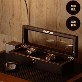 5入裝木質手錶收納盒