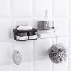 免釘無痕雙層瀝水肥皂盒