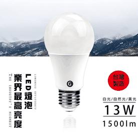 MIT高效能廣角13W燈泡