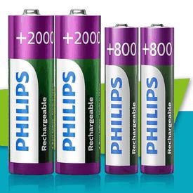 飛利浦充電電池組