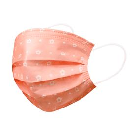 梨花嫩粉橘防護口罩