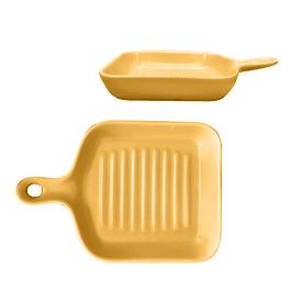 北歐帶柄陶瓷烘培焗烤盤