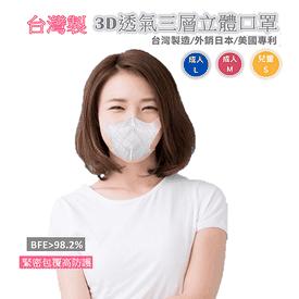 台灣製透氣3D立體口罩