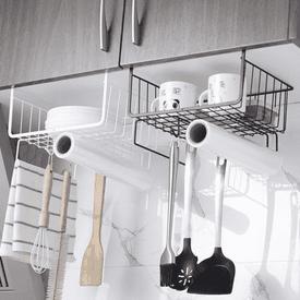 廚房紙巾碗盤掛勾收納架