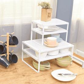 可堆疊櫥櫃收納置物架