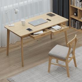 大自然實木抽屜電腦桌