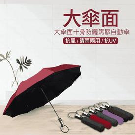 大傘面防曬黑膠自動傘