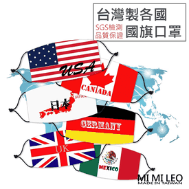 台灣製世界國旗口罩