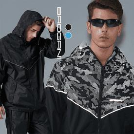極光反光防潑水風衣外套