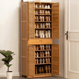 高品質耐重加大木紋鞋櫃