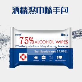 75%酒精抗菌紙巾隨手包