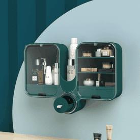 無痕壁掛旋蓋化妝收納盒